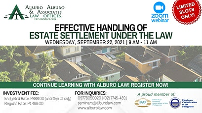 Effective Handling of Estate Settlement under the Law tickets