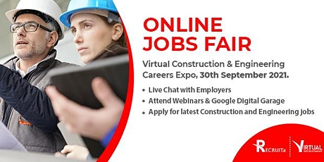 Virtual Recruitment Expo (Construction & Engineering sectors) tickets
