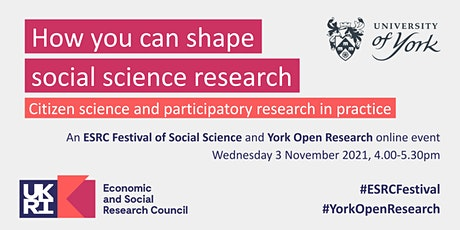 How you can shape social science research (ESRC Festival of Social Science) tickets