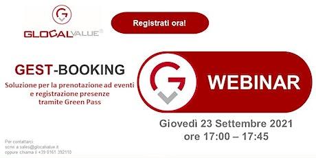 Gest-Booking (prenotazione e registrazione presenze tramite Green Pass) biglietti