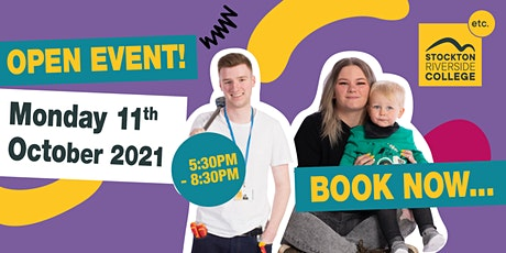 Stockton Riverside College Open Event - Monday 11th October - 5:30- 8:30PM tickets