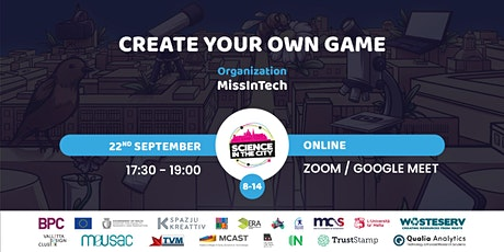 Create Your Own Game: MissinTech Online Workshop tickets