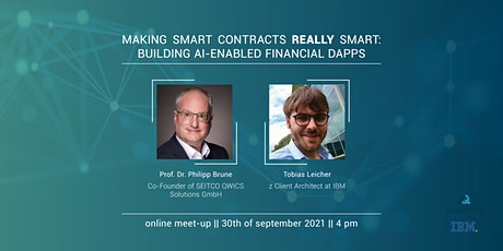 Making Smart Contracts REALLY Smart: Building AI-Enabled Financial DApps tickets