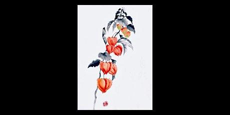 "Sumi-e Ink Painting workshop ""Coloured Hozuki - winter cherry "" with KOSHU tickets"