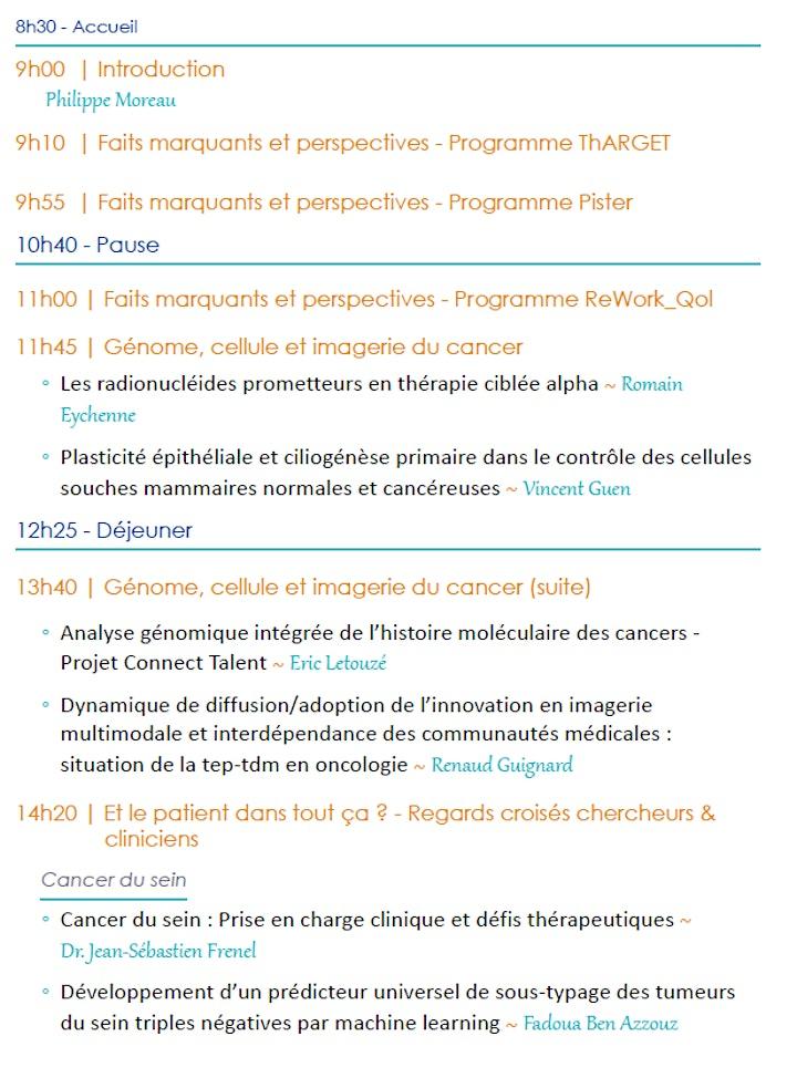 Image pour 4ème journée scientifique du SIRIC ILIAD Nantes-Angers