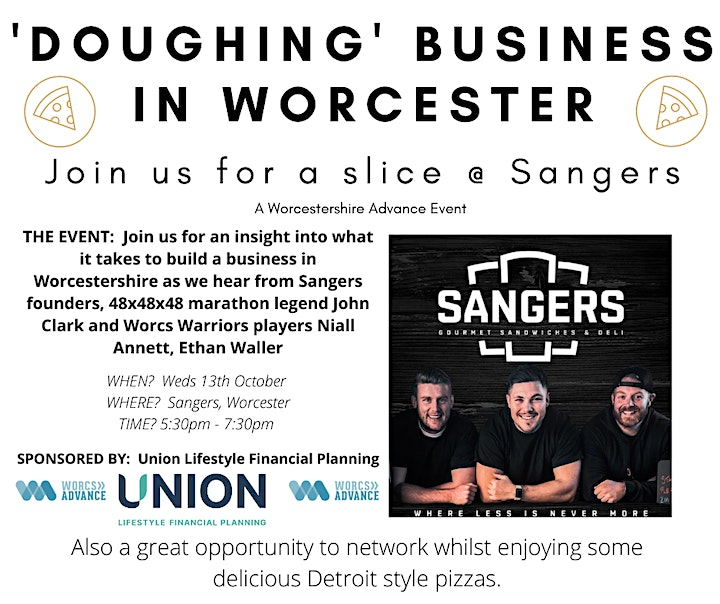 'Doughing' Business In Worcester -  Join us for a Slice @ Sangers image