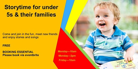 Storytime for under 5s & their families tickets