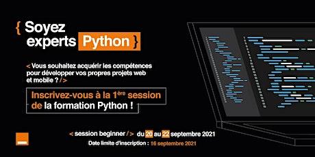 Formation Python billets