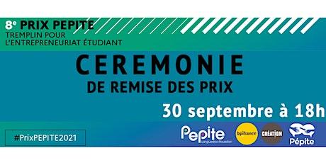 Cérémonie du Prix PEPITE billets