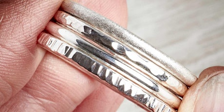 MAKE YOUR OWN SILVER STACKING RINGS JEWELLERY WORKSHOP - 23rd OCTOBER 2021 tickets