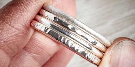 MAKE YOUR OWN SILVER STACKING RINGS JEWELLERY WORKSHOP - 27TH NOVEMBER 2021 tickets