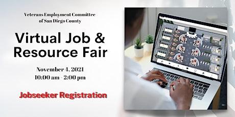 VEC November Job & Resource Fair - Jobseekers Registration tickets