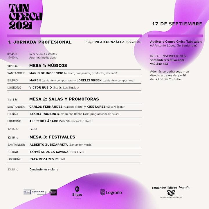 """Imagen de Jornada profesional """"La música Tan Cerca"""". Tan Cerca 2021"""