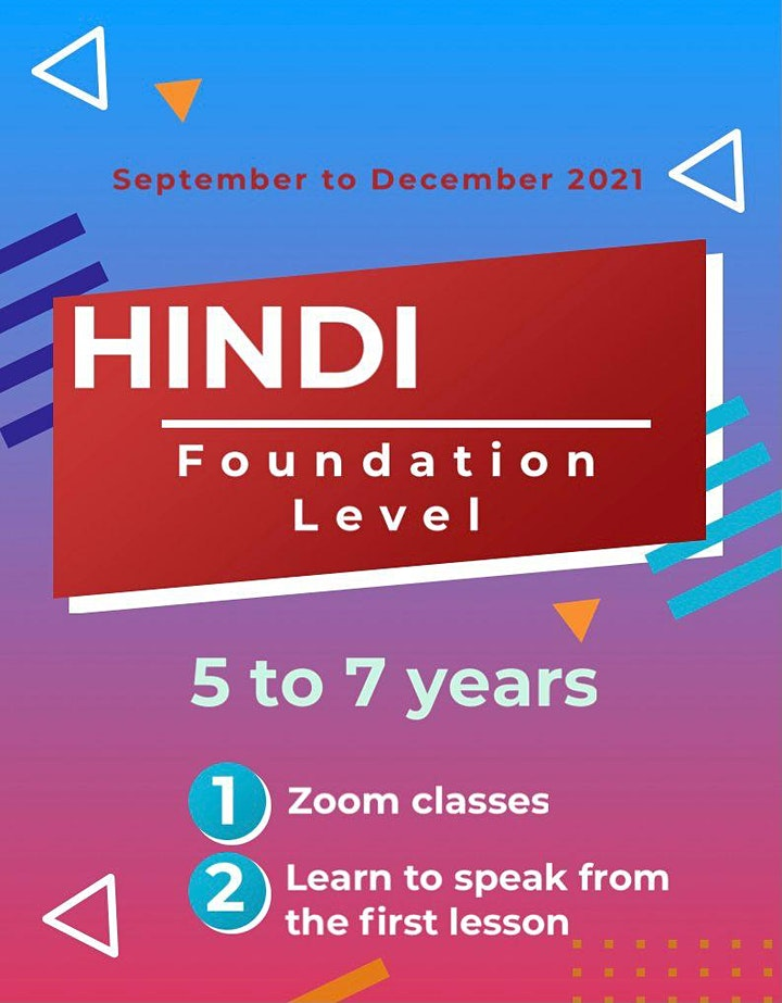 Indian language classes - Hindi image