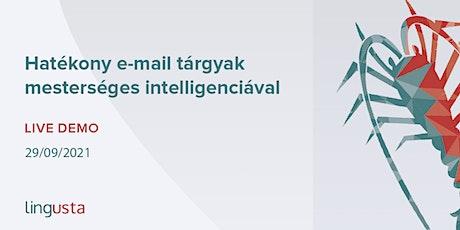 Hatékony e-mail tárgyak mesterséges intelligenciával: Lingusta tickets