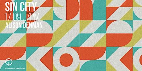 Sin City presents Alison Denman at Q Shoreditch tickets
