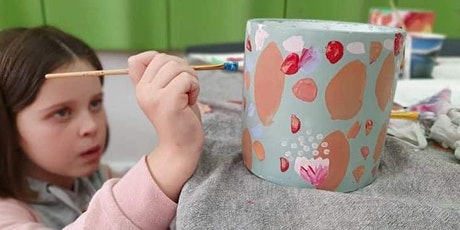 School Holidays Pot Painting  at Patch with Coral and  blush tickets