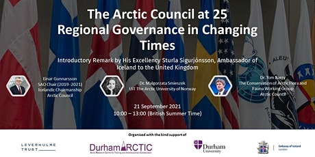 The Arctic Council at 25: Regional Governance in Changing Times tickets