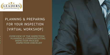 Preparing & Planning For Your Inspection tickets