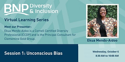 2021 #1 D&I Virtual Learning Series-Unconscious Bias