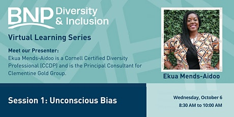 2021 #1 D&I Virtual Learning Series-Unconscious Bias tickets