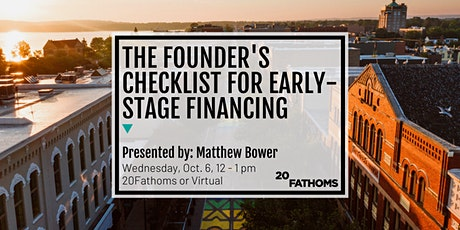 The Founder's Checklist for Early-Stage Financing tickets
