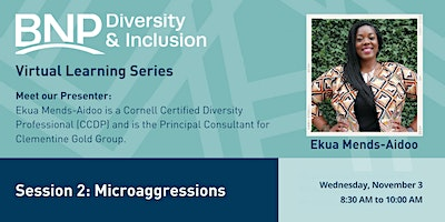 2021 #2 D&I Virtual Learning Series-Microagressions
