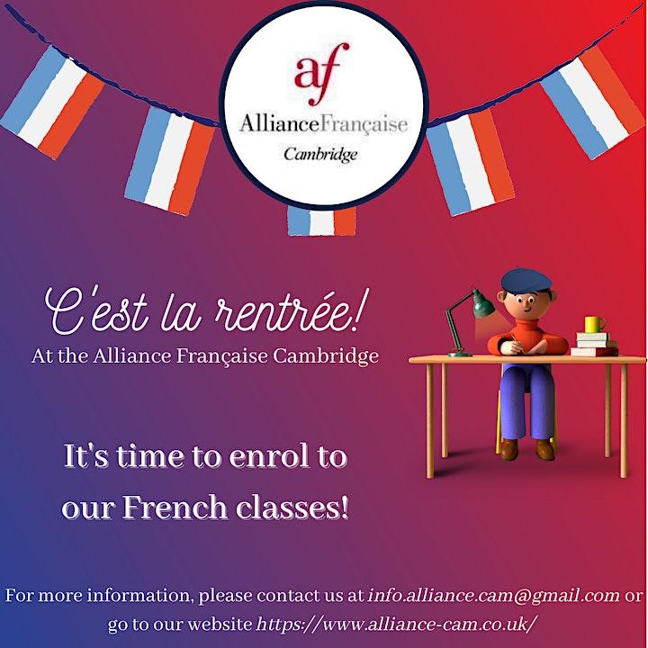 Enrolment French classes image