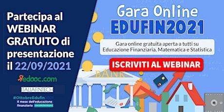 Presentazione della Gara EduFin 2021 biglietti