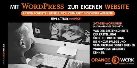 Mit WordPress zur eigenen Website Tickets
