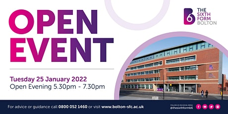 The Sixth Form Bolton   OPEN EVENT   Tuesday 25 January 2022 #B6Ready tickets