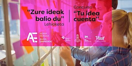 Presentación de proyectos finalistas Tu Idea Cuenta. Álava Emprende entradas