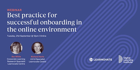 Webinar: Best practice for successful onboarding in the online environment tickets
