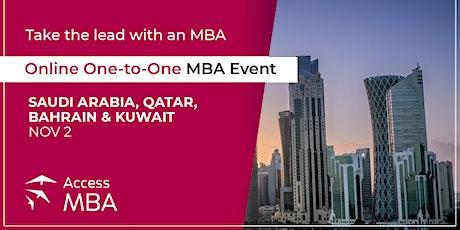 Online One-to-One MBA Event Saudi Arabia, Kuwait, Qatar and Bahrain tickets