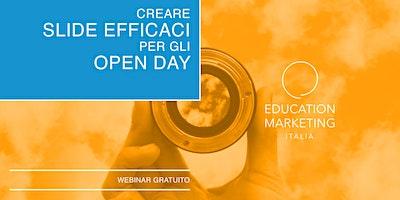 Creare Slide efficaci per gli Open Day · Webinar Gratuito