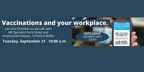 CHAMBER CHAT LIVE - Vaccinations and your Workplace tickets