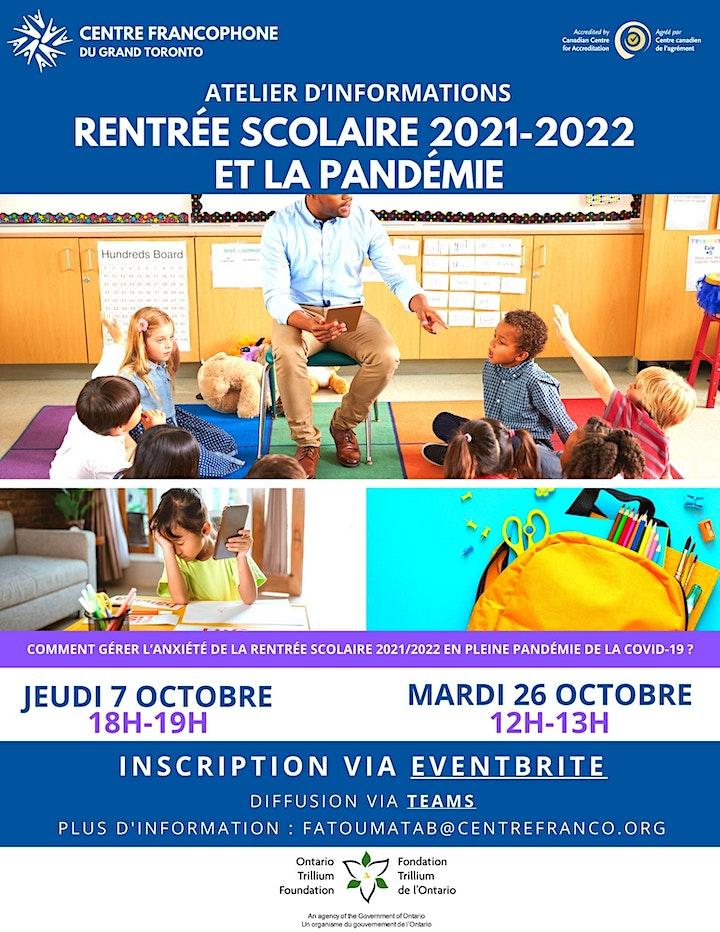 Rentrée scolaire 2021-2022 et la pandémie image