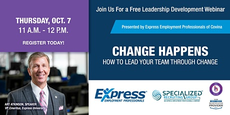 Change Happens – How to Lead Your Team Through Change tickets