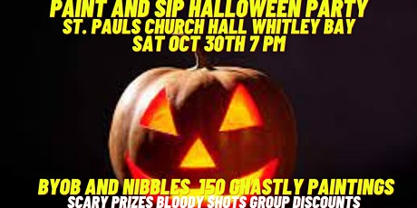Paint and Sip Halloween Party Whitley Bay tickets