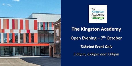 The Kingston Academy - Open Evening 2021 (5.00pm) tickets