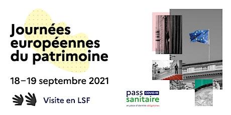 Journées européennes du patrimoine 2021 - Visite en LSF - Quai d'Orsay billets