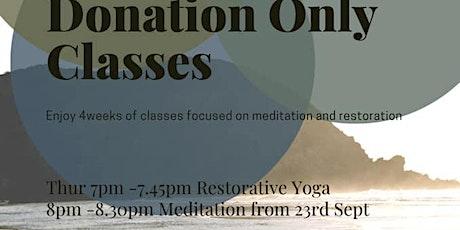 Restorative yoga & Meditation tickets