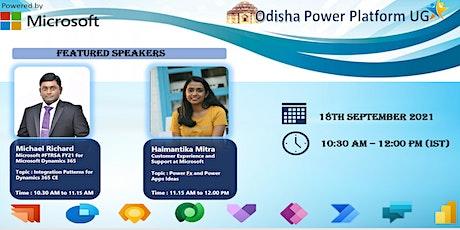 Odisha Power Platform User group , September Meetup tickets