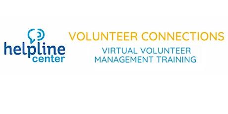 Virtual Volunteer Management Training tickets