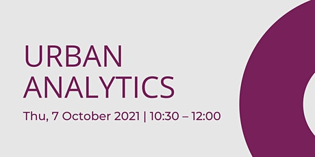 Urban Analytics   - Bristol Turing Fellows Projects tickets