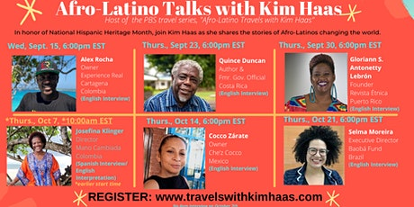 Afro-Latino Talks with Kim Haas- National Hispanic Heritage Month tickets