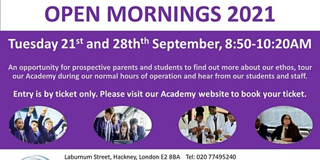 Open Mornings: 21st and 28th September 2021 tickets