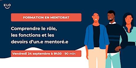 Formation en mentorat: quelles sont les responsabilités d'un.e mentoré.e? billets
