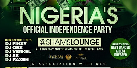 NIGERIA'S INDEPENDENCE DAY PARTY. TICKET ONLY EVENT tickets