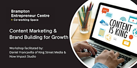 Content Marketing & Brand Building for Growth tickets